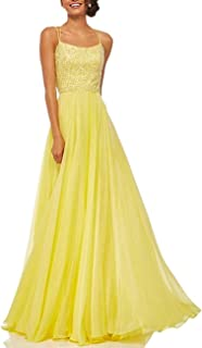 Women's Sequins V-Neck Backless Empire Waist Party Wedding Maxi Long Dresses