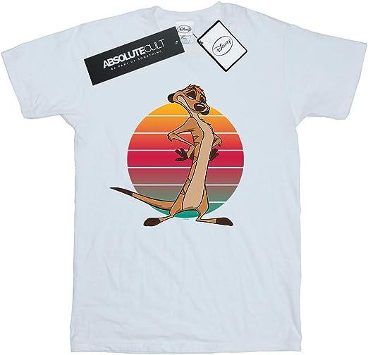 Disney Mädchen The Lion King Timon Sunset T-Shirt