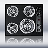 Summit TEL03 Kitchen Electric Cooktop, Black