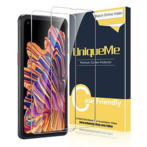 UniqueMe [2 Stück] Schutzfolie für Samsung Galaxy Xcover Pro Panzerglas, HD klar gehärtetes Glas Bildschirmschutz 9H Festigkeit Anti-Fingerabdruck