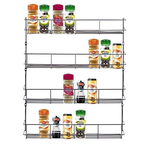 Yontree Estantería de Condimentos Rack Soporte de Especias con 4 Capas Color Plateado