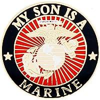"U.S. MARINES, USMC LOGO My Son Is A Marine - Original Artwork, Expertly Designed PIN - 1"""