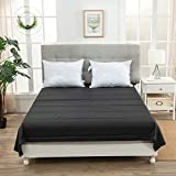 Sex and Sensuality Adult Bedsheets Waterproof Bed Sheets 86.6inches * 78.7inches PVC(Black)