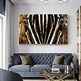 XWArtpic Poster African Horse Bild Tier Ölgemälde Für Wohnzimmer Wandkunst Leinwand Wandbilder Moderne Gemälde 60 * 100 cm
