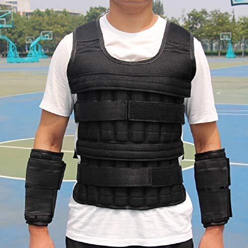 WJH 10 stuks verstelbare leggings, geplateerde plaat, ronde kop van roestvrij staal, handgebonden zandbag gewicht uitrusting