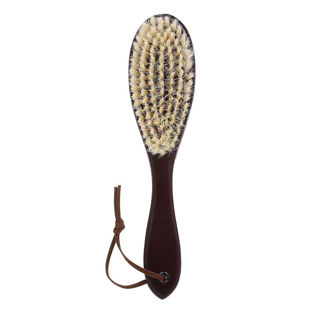 より平らな徹底的にシンカンDecdeal 木製 ひげブラシ シェービングツール メンズ用 髭剃り シェービングブラシ