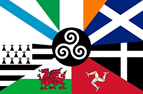 magFlags Large Flag Proposed Flag of The Celtic Nations Galician at top Left Irish at top Middle Scottish at top Right Cornish at Bottom Right Isle of Man at Bottom Middle Right Wales at Bottom midd