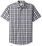 Amazon Essentials – Camisa informal de popelín a cuadros de manga corta de corte recto para hombre, ...