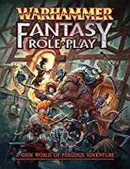 Warhammer Fantasy Roleplay takes your customers back to the Old World. Get the gang together, create your (anti)heroes, and set off to make your way through the vile corruption, scheming plotters and terrifying creatures intent on destruction. The Wa...