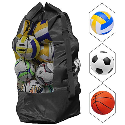AIDIER Extra Large Mesh Equipment Bag Adjustable Drawstring Ball Bag for...
