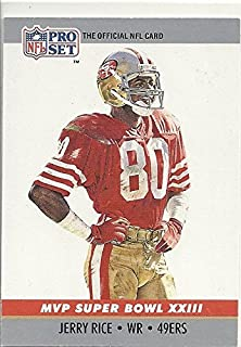 JERRY RICE NFL COLLECTIBLE TRADING CARD - 1990 PRO SET FOOTBALL CARD #23 (MVP SUPER BOWL XXIII COLLECTIBLE - SAN FRANCISCO 49ERS) FREE SHIPPING