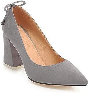 BalaMasa Womens Casual Travel Solid Urethane Pumps Shoes APL10742