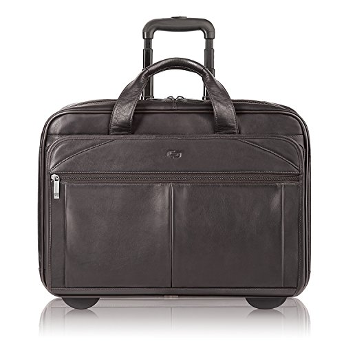 Solo New York Walker Leather Rolling Laptop Bag, Espresso