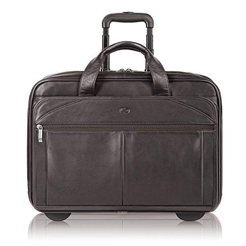 Solo New York Walker Leather Rolling Laptop Bag, Espresso