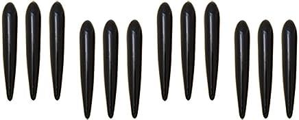 uxcell ドアガード 車 保護 ドア プロテクター ステッカー飾り 簡単 設置 傷 防止 ブラック プラスチック 12個入り