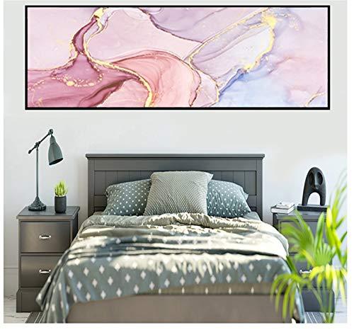 Kits de Pintura de Diamantes DIY 5D Grande Taladro Completo Mármol rosa abstracto Rhinestone Bordado de punto de Cruz Diamond Painting Artesanía para el hogar Decoración -Square Drill,16x48inch