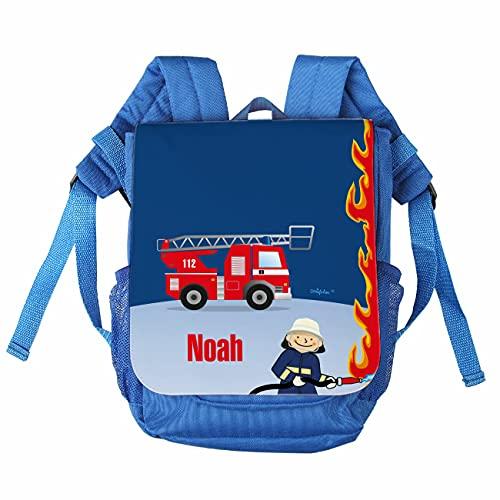 Striefchen® Kinder-Rucksack mit Namen - Feuerwehr - ideal für den Kindergarten