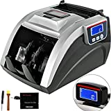 VEVOR 08A Money Counter with UV MG Counterfeit Detector Money Counter Machine, Counts 1000 Notes/Min and More, Multi Currency Bill Cash Counting Machine, with LED Display Money Counter