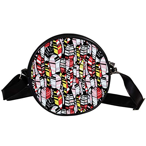 Bandolera redonda pequeña bolso de mano para mujer, bolso de hombro de moda, bolso de mensajero de lona, riñonera, accesorios para mujer, bohemio, hippie