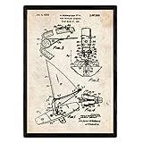 Nacnic Poster con Patente de Tabla de Windsurf. Lámina con diseño de Patente Antigua en tamaño A3 y ...