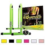 Lebert Fitness Equalizer Bars Total Body Strengthener, Green