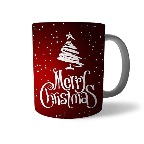 Babloo Tazza di Natale Idea Regalo Natalizia White Tree