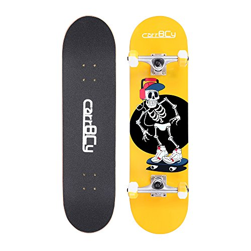 SAMHUO Skateboards 31X 8 Pro Complete Skateboard 7 Layer Canadian Maple Skateboard Deck for Extreme Sports and Outdoors