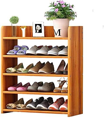Wddwarmhome Zapatero Multi-Capa Simple Puerta Estrecha Cabina de Zapatos Home Tipo Económico Espacio Imitación de Madera Polvo a Prueba de Polvo Almacenamiento Pequeño Estante