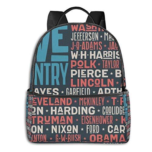 Vintage USA Flag High School Boys Outdoor Cycling Backpack Girls High Capacity Antitheft Backpack