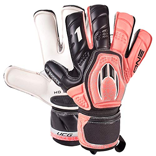 Ho soccer One contact Evolution Warning keepershandschoen roze-zwart maat 6