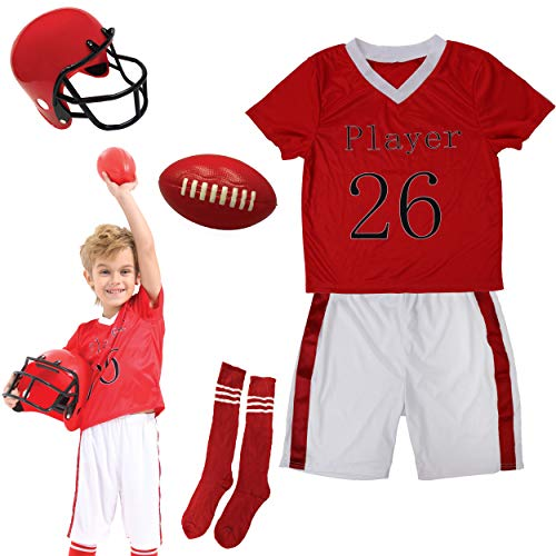DRESS 2 PLAY Pretend Costume Dress Up Set with Accessories for Kids (Football Player)