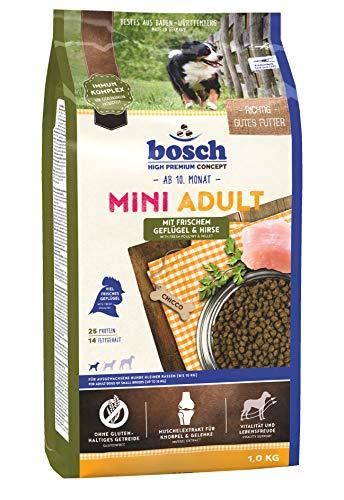 Hundefutter Trockenfutter Bosch Mini Adult Geflügel & Hirse 1 kg