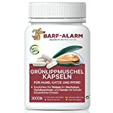 barf-alarm Grünlippmuschel-Kapseln Hund – 300 Kapseln – 100% Grünlippmuschelpulver Kapseln...
