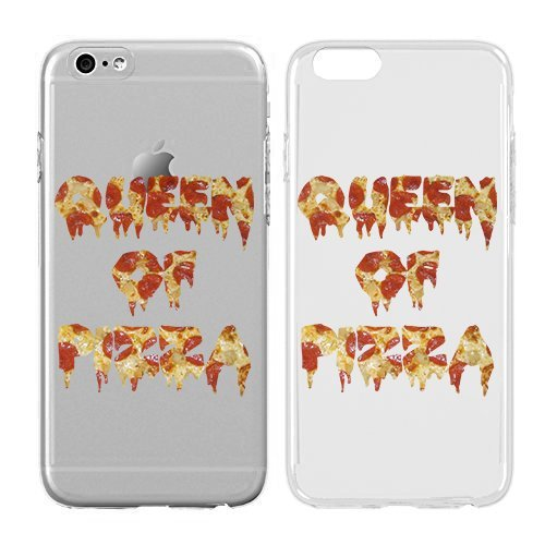 Compatible for iPhone 6/6S Plus - Cream Cookies - Ultra Slim Hard Plastic Cover Case - Queen of Pizza - Pizza Emoji - Teenage Girl Gifts - Teenager Gifts