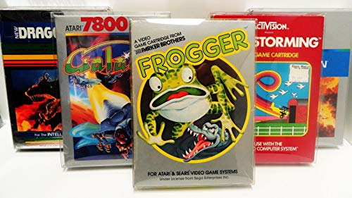 5 Box Protectors Atari 2600/5200 / 7800 Video Games ColecoVision Display Case