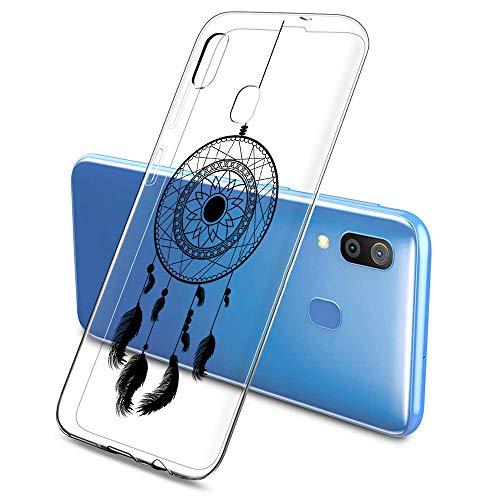 Suhctup Transparente Funda Compatible con Samsung Galaxy S5,Transparente Ultrafina Suave TPU Bumper Antigolpes Proteccion Carcasa con Atrapasueños Patrón Adecuado para Mujeres