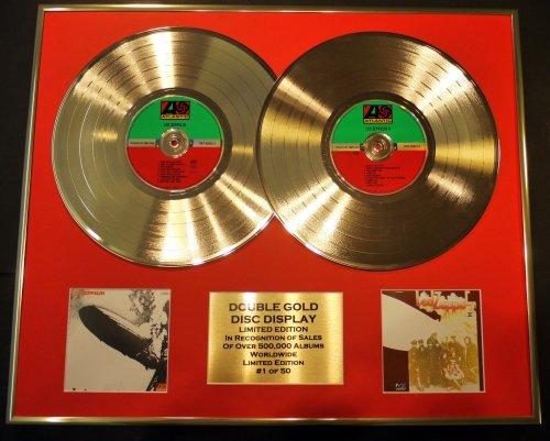 LED Zeppelin/Double CD Gold Display/LTD. Zeppelin II Edition/COA/LED Zeppelin II