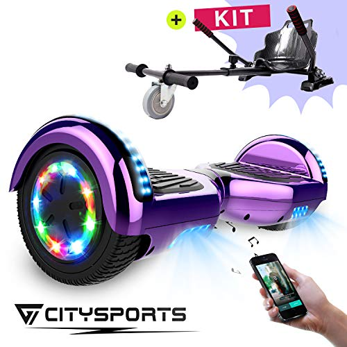 CITYSPORTS Hoverboard 6.5 & Balance Board 6,5 Zoll, Elektro Skateboard Smart Scooter 2x350W mit LED,E-Scooter + HOVERKART