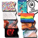 8 RFID Blocking Sleeves, Credit Card Protector, Anti Theft Credit Card Holder, Easy to Recognize, Vivid Color Prints