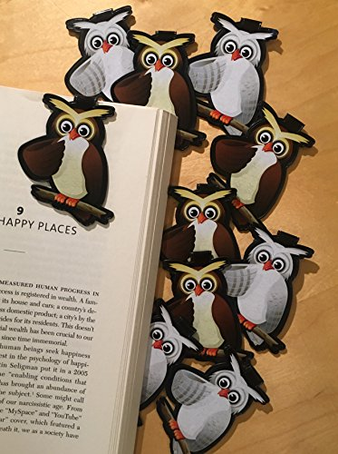 Owl Bulk Bookmarks for Kids Girls Boys -Set of 10 Animal Bookmarks for Kids Girl's boy's Teens. Perfect for Gifts, Student Incentives, Birthday Party Favors, Reading Incentives, Awards and Promotions