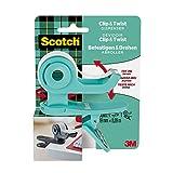Scotch 90103 - Dispensador de cinta adhesiva C&T, gris, 1 rollo incluido, 19 x 9,8 m