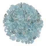 100 Gramm Aquamarin ugs. Beryll blau kleine Trommelsteine Wassersteine ca. 4-12 mm