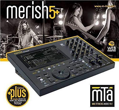 M-LIVE Merish 5+ Plus - LETTORE TOUCH SCREEN DI BASI MUSICALI, FILE MIDI & MP3 MULTITRACCIA E VIDEO CON TESTO
