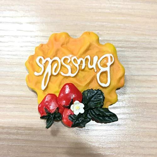 Imán para decoración de nevera, diseño creativo de postre, tubo de resina 3D, para nevera, pasta, mensaje (color: fresa)