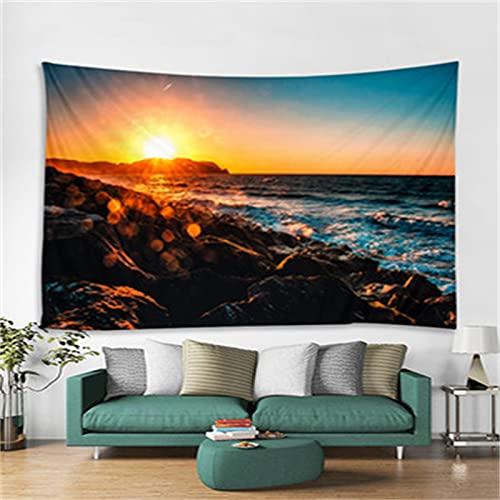 YYRAIN Schlafzimmer Nachttisch Hintergr& Stoff Flur Wandbehang Poster Dekoration Bettwäsche Tagesdecke Strandtücher 150cm x 200cm{Width×Height} B