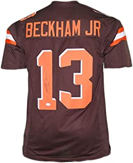 Odell Beckham Jr Autographed Football Jersey Hand Signed /& JSA Authenticated Cleveland Orange Custom