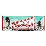 Boland BOL44852 Bandera de fiesta Rock & Roll, multicolor