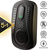 CQOO Ultrasonic Pest Repeller Electromagnetic Insect Repellent Plug in Pest Control for Mosquito Mice Cockroach Spider Ant Bug Fly and More
