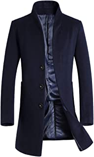 Men's French Woolen Coat Business Down Jacket Trench Topcoat