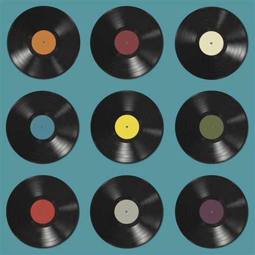 20 Servietten Vinyl Schallplatten/Retro/Party/Musik 33x33cm